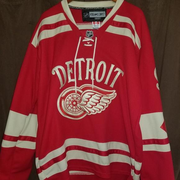 classic fit 090ec 7c7bf Gordie Howe Detroit Red Wings Hockey Jersey